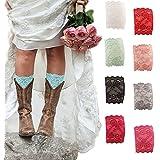 American Trend Women's Stretch Lace Boot Leg Cuffs Soft Leg Warmers Socks