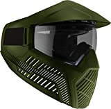 BASE Paintball Goggles/Masks with Built-In Visor - ODG Green with Anti-fog Lens