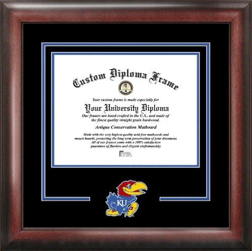 Campus Images NCAA Kansas Jayhawks Spirit Diploma Frame, 8.5 x 11, Mahogany