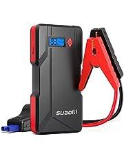SUAOKI P6 arrancador de Coche 800A Batería de automóvil máxima (hasta 6.0 litros de Gasolina o Diesel de 5.0 litros) con Pantalla LCD Puerto Dual USB, Banco de energía Linterna