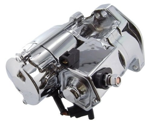 Chrome Starter Motor - Crank-n-Charge 18199NC Replacement Starter Chrome For Harley Davidson 31553-94, 31553-94A
