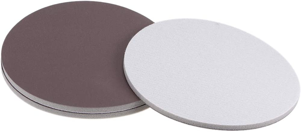 uxcell 6-Inch Sanding Sponge Hook and Loop Sanding Disc Wet//Dry for Car Wood Drywall Metal Brown Corundum 2000 Grit 3 Pcs