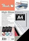 Peach PB100-02 A4 High Gloss Cover Sheets - Black