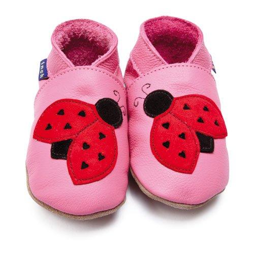 Inch Blue - 1505 L - Chaussures Bébé Souples - Ladybird - Rose - T 20-22 cm - 12-18 mois