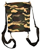 Pet Backpack with Window (Camo) - Small Animal Pouch / Carrier