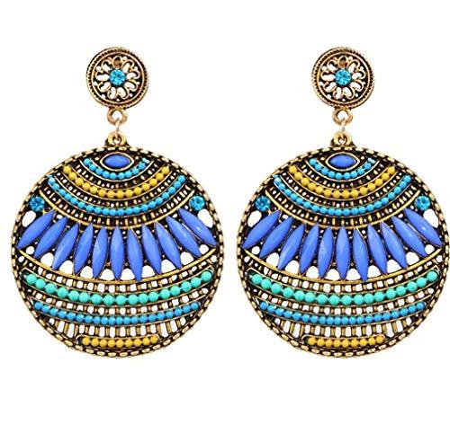 CHASIROMA Bohemian Dangle Earrings Sterling Silver Drop Earring Handmade Bohemian Teardrop Earrings ()