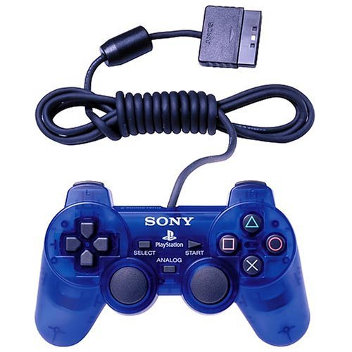 (Sony Playstation 2 Dualshock 2 Analog Wired Controller SCPH-10010 - Ocean Blue (Renewed))