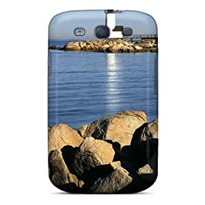 New Lighthouse On A Rocky Point Tpu Case Cover, Anti-scratch DGENDS Phone Case For Galaxy S3