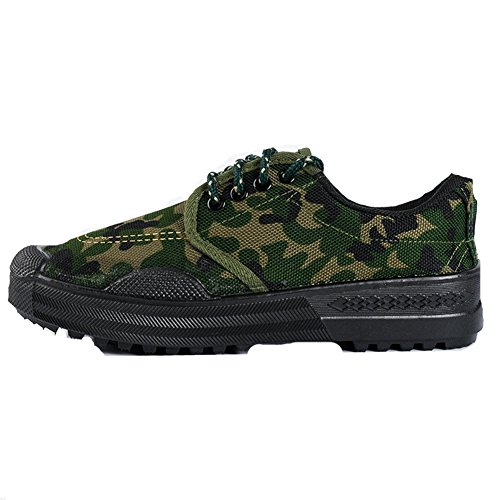 Camo Safety 99 Shoes Slip Cut Women Sneaker Resistant Working 3 Green Low Camouflage Men Unisex xFHnB66