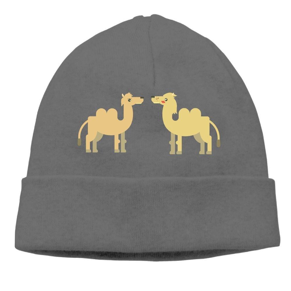 DK1212 Desert Camel Custom Made Beanie Hat Cap Autumn and Winter Knit Beanie Black