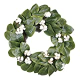 Silvercloud Trading Co. Magnolia & Cotton Wreath – 22″ – Adjustable Stems – Timeless Farmhouse Decor – Wedding Centerpiece Review