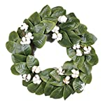 Magnolia-Cotton-Wreath-22-Adjustable-Stems-Timeless-Farmhouse-Decor-Wedding-Centerpiece-Silvercloud-Trading-Co