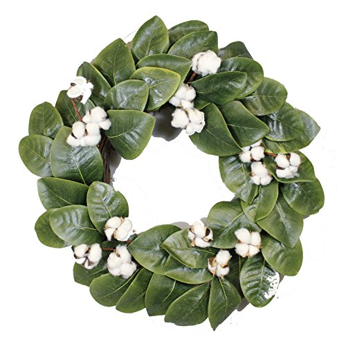 Magnolia Floral Wreath (Magnolia & Cotton Wreath - 22
