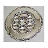 Seder Plate for Passover, Silver Plated Pesach Plate K85-8201