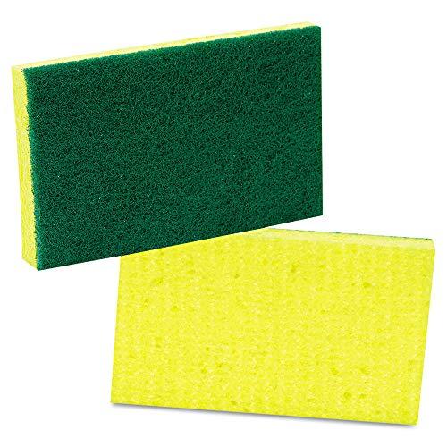 Scotch-Brite PROFESSIONAL 74 Medium-Duty Scrubbing Sponge, 3 1/2 X 6 1/4, Yellow/green, 20/carton