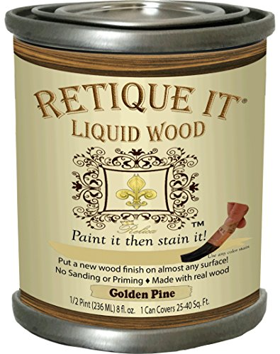 Retique It Liquid Wood 8oz 3. Golden Pine (Paint Wood Pine)