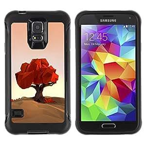 "Hypernova Defender Series TPU protection Cas Case Coque pour Samsung Galaxy S5 V [Polígono Arte Naturaleza Otoño Otoño""]"