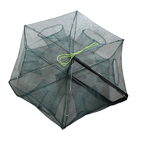 Portable Folded Collapsible Fishing Net Fish Minnow Crawfish Crab Trap Lobster Shrimp Baits Cast Mesh Trap (Used Traps Lobster)