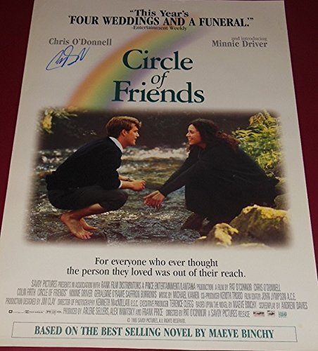 Circle of Friends Chris O'Donnell Authentic Signed Autographed Movie Theatre Poster Loa
