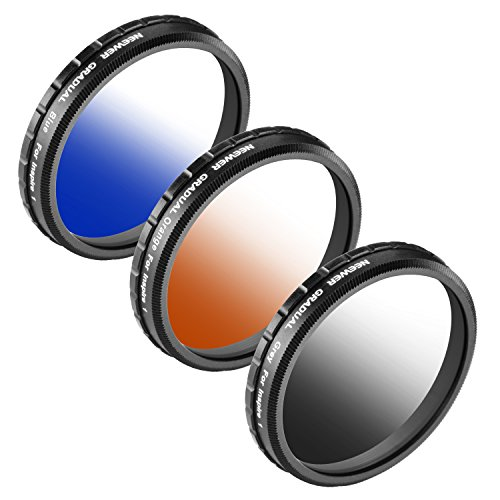 Neewer for DJI OSMO/Inspire 1, Graduated Color Filter Set 3 Pieces: Graduated Grey Filter, Graduated Orange Filter and Graduated Blue Filter
