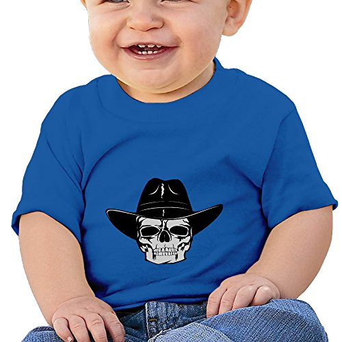 DIMANNU Skull Tattoo Illustration Infants And Toddlers Cotton T Shirts Little Boys And Girls Baby's Crew Neck Short Sleeves For 6-24 Months ()
