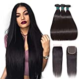 Best Hair Bundles With Free Parts - Brazilian Straight Hair Bundles With Closure 100% 7A Review