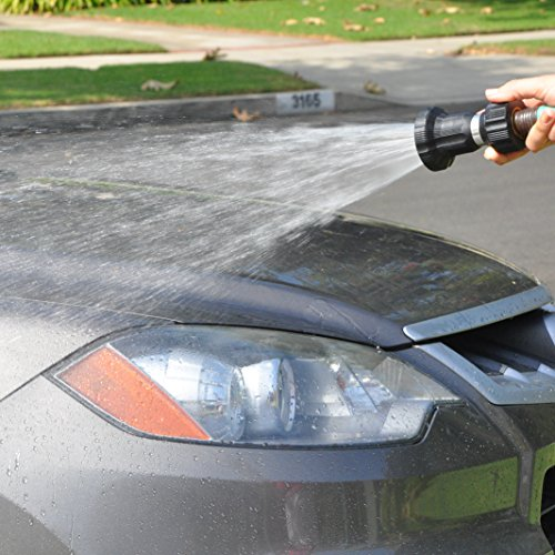 Hose Nozzle – High Pressure Heavy-Duty Power Washer – Perfect Sprayer for Car Wash, Patio Cleaning and Gardening – 6 Spray Settings – 100% Customer Satisfaction Guarantee