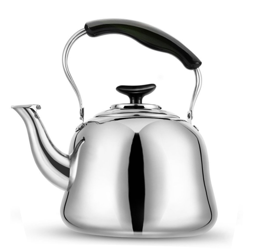 Tea Kettle Stovetop Stainless Steel-Mirror Finsh,Bakelite Handle,Easy To Spout,Fast To Boil (2 L)