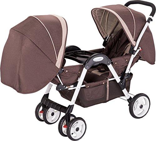 Amoroso Deluxe Double Stroller - 1