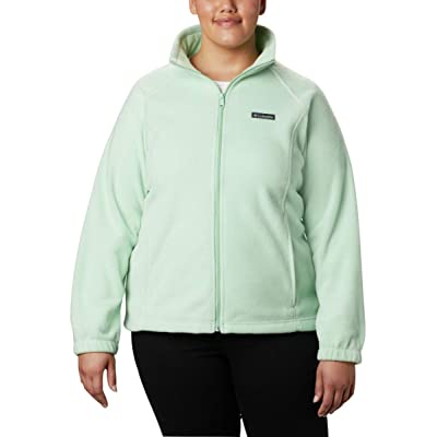 Columbia Women's Benton Springs Full Zip Jacket, Soft Fleece with Classic Fit, New Mint, Small: Clothing