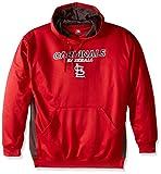 MLB St. Louis Cardinals Men's Fleece Hood, 3X, Red/Storm Grey