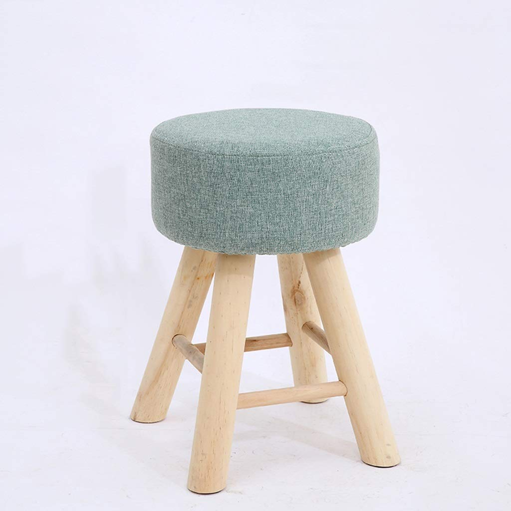 A Solid Wood Stool, Dressing Table Dining Table Small Stool Small Chair Sofa Balcony Footstool Sponge Stool Detachable Small Bench (color   C)