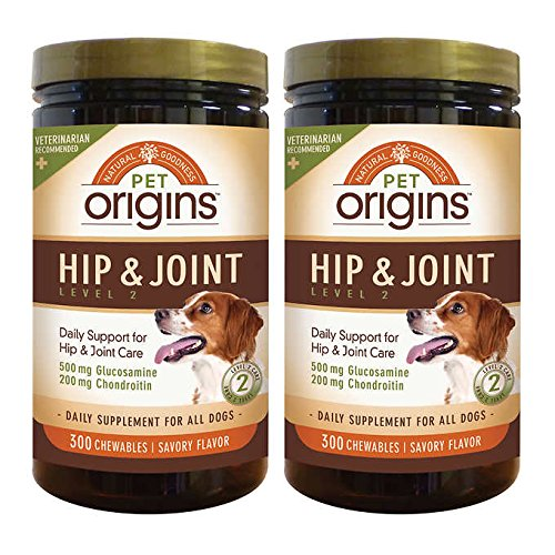(Pet Origins Hip & Joint Level 2 Chewable Tablets 300-count 2-pack)
