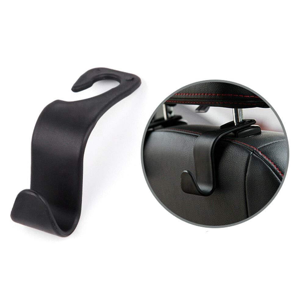 4 Pack Car Vehicle Back Seat Headrest Hook Hanger Storage for Purse Groceries Bag Handbag Organizer Holder Accessories (1PCS)