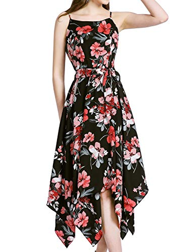 Chiffon Handkerchief Dress - Gardenwed Floral Print Chiffon Dresses Flowy