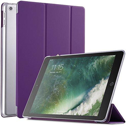 Poetic Slimline New iPad 9.7 Inch 2017/2018 Case Slim-Fit Trifold Cover Stand Folio Case with Auto Wake/Sleep for Apple iPad 9.7 2017 / iPad 9.7 2018 Purple