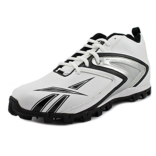 Reebok Men's NFL Ferocious at Football Cleat,White/Black,14 M