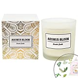 AromusBloom Scented Candle Gift Natural Essential Oils, 100% Eco-Friendly Soy Wax Aromatherapy Candle, Gift Candles Women, Spring Sakura Tea