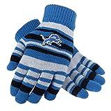 FOCO NFL Detroit Lions Team Logo Stretch Gloves, Team Color, One Size