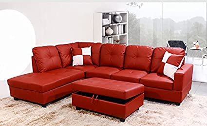 Amazon.com: Golden Coast Furniture 2 PC L Shape Sectional ...