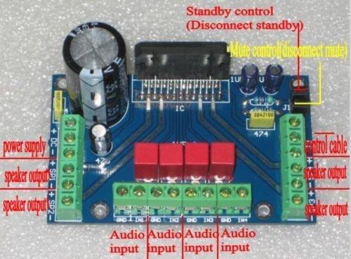 UTP DC 12V TDA7388 Four Channel 4 x 41W Audio Power Amplifier Board BTL PC Car Amp