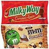 M&M's Pecan Pie Limited Edition Fall Milk Chocolate 9.90 Ounce MILKY WAY Fall Harvest Caramel Apple Chocolate Minis Size Candy Bars 11.5-Ounce Bag 2 Pack
