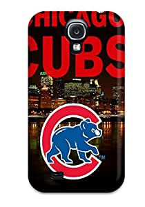 DanRobertse Scratch-free Phone Case For Galaxy S4- Retail Packaging - Chicago Cubs
