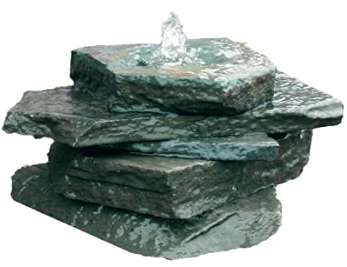 Bubbling Rock Fountain Kit, Blue Stone