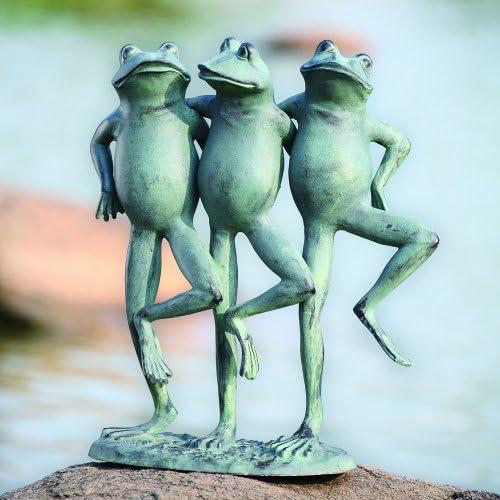 SPI Aluminum Dancing Frog Trio Statue