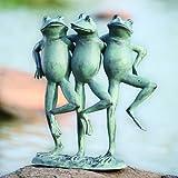 SPI Home 33430 Dancing Frog Trio Sculpture