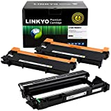 LINKYO Compatible Toner Cartridge and Drum Unit Set Replacement for Brother TN660 TN-660 DR630 DR-630 (2 Toner Cartridges