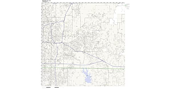 Midwest City Zip Code Map.Amazon Com Midwest City Ok Zip Code Map Laminated Home Kitchen