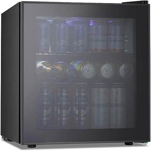 Kismile 1.6 Cu.ft Beverage Refrigerator and Cooler,60 Can Mini Fridge