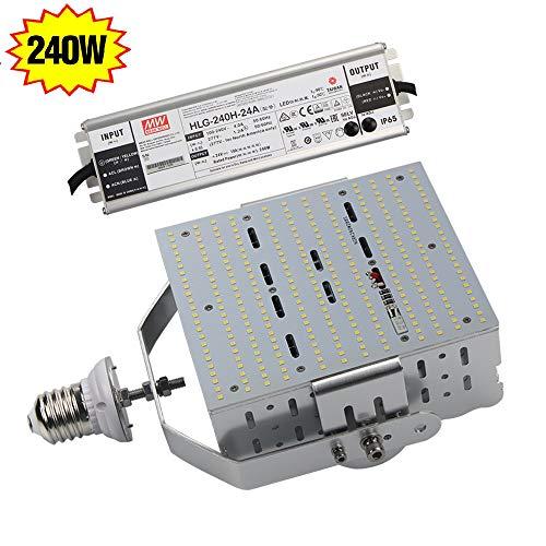 LED Shoebox Retrofit Kit 240W (1000W Metal Halide Replacement),SMD3030 E39 Mogul Screw Base 5700K Daylight for Parking Tennis Court Fixture